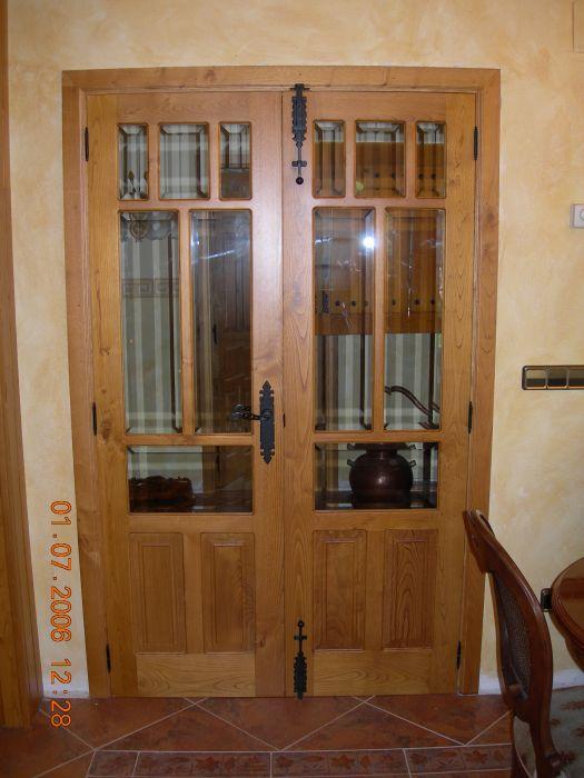 Puerta castellana de sal n carpinter a ebanister a bra a for Puerta castellana pino