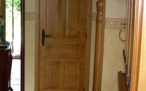 Puerta castellana carpinter a ebanister a bra a - Puertas de castano ...